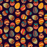Happy Easter! Happy holiday eggs pattern, seamless background for your greeting card design. Cute decorated easter eggs Royalty Free Stock Photos