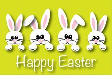 Happy easter header banner or greeting card Royalty Free Stock Photo