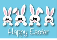 Happy easter header banner or greeting card Stock Photography