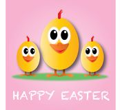 Happy easter header banner or greeting card Stock Images