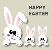 Happy easter header banner or greeting card Stock Photos