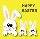 Happy easter header banner or greeting card Royalty Free Stock Images