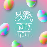 Happy Easter and Holi festival Stock Photo