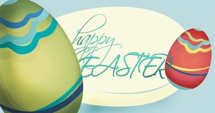 Happy Easter Holiday Card with Eggs royalty free illustration