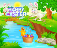 Happy Easter holiday celebration Stock Photos