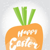 Happy Easter. Holiday greeting card with calligraphy elements. Stock Image