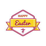 Happy Easter holiday greeting emblem Royalty Free Stock Images