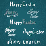 Happy Easter Holiday Text Font Sketch Set Collection Stock Images