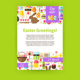 Happy Easter Holiday Vector Invitation Template Poster Royalty Free Stock Photography
