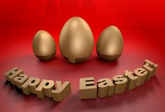 Happy Easter holidays greetings card in 3D Stock Photo