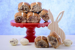 Happy Easter Hot Cross Buns Royalty Free Stock Images