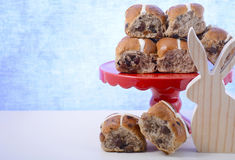 Happy Easter Hot Cross Buns Royalty Free Stock Image