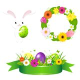 Happy Easter Icons Stock Photos
