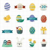 Happy easter icons Stock Image