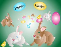 Happy Easter illustration... Royalty Free Stock Images