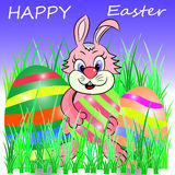 Happy easter. Easter illustration cartoon  character Royalty Free Stock Photos