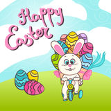 Happy easter illustration Stock Image
