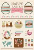 Happy Easter - infographic and elements Stock Photos
