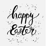 Happy Easter ink lettering card design. Royalty Free Stock Images