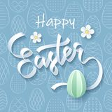 Happy Easter greeting card on seamless pattern background vector illustration