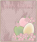 Happy Easter invitation old card Stock Photo
