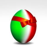 Happy Easter Italy. Easter egg background with the colors of the Italian flag royalty free illustration