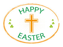 Happy easter jesus cross banner Stock Photo