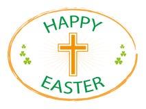Happy easter jesus cross banner. Isolated on white background  illustration Stock Photo