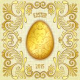 Happy easter jewelry egg Royalty Free Stock Image
