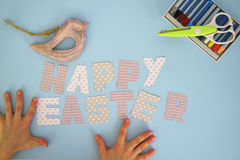 Happy Easter - kids hands 2 Royalty Free Stock Images