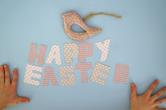 Happy Easter - kids hands 3 Royalty Free Stock Images