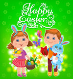 Happy Easter kids Royalty Free Stock Image