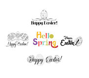 Happy Easter labels set Royalty Free Stock Photography