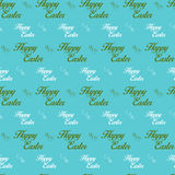 Happy Easter Letter Blue Seamless Background Royalty Free Stock Photography