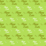 Happy Easter Letter Green Seamless Background Stock Photography