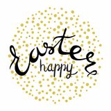 Happy Easter Lettering. Easter Lettering   black  colors. Royalty Free Stock Image