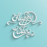 Happy Easter Lettering Greeting Card Stock Image