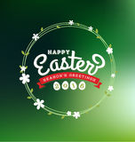 Happy Easter 2016 Lettering Greeting Card Stock Photography