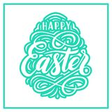 Happy Easter lettering for greeting card Royalty Free Stock Photo
