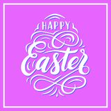 Happy Easter lettering for greeting card Stock Photos