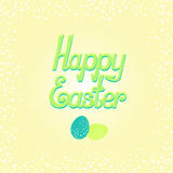 Happy Easter  lettering Royalty Free Stock Photography