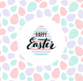 Happy Easter lettering for sticker, greeting card Royalty Free Stock Images
