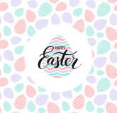 Happy Easter lettering for sticker, greeting card Stock Images