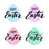 Happy Easter lettering for sticker, greeting card Royalty Free Stock Photography