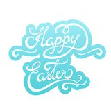 Happy Easter lettering Sticker Royalty Free Stock Images