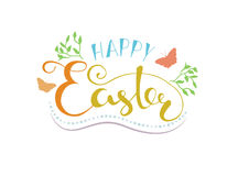 Happy Easter lettering typography. Seasons Greetings Royalty Free Stock Photo