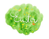 Happy Easter lettering typography. Seasons Greetings Stock Images