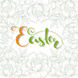 Happy Easter lettering typography. Seasons Greetings Stock Image