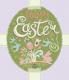 Happy Easter lettering. Royalty Free Stock Photo