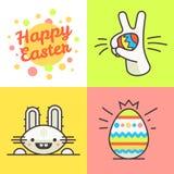 Happy easter line illustration Stock Photo